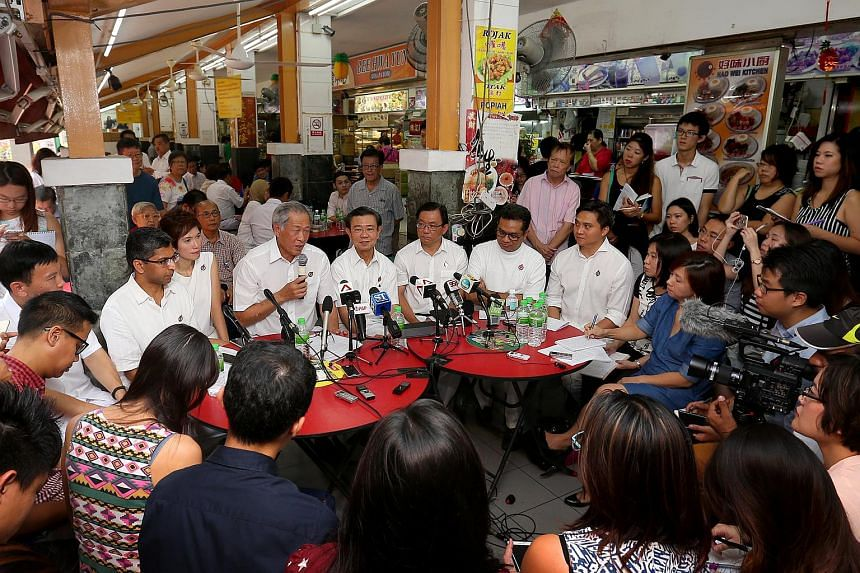 PAP announced its Bishan-Toa Payoh GRC line-up at a coffee shop.