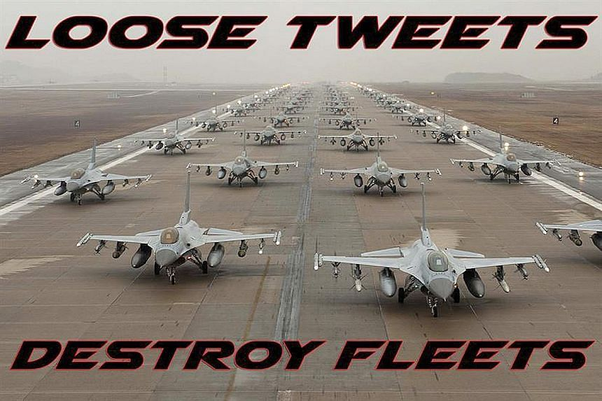 A message from the US Air Force to its personnel, reminding them not to share too much information on social media.