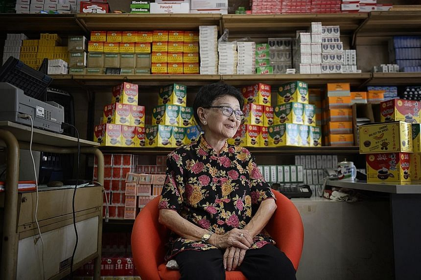 Madam Teo Buck Lang, 90, is carrying on her father's work at Sin Tong Kok.