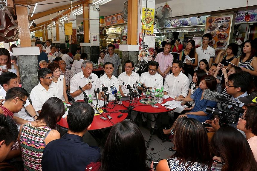 What are people in coffee shops saying? The PAP unveiled its Bishan-Toa Payoh GRC team in a coffee shop.