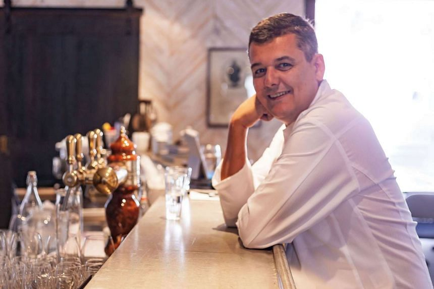 Balzac Brasserie's executive chef Jean-Charles Dubois (above) serves up dishes such as Anjou quinoa salad, black olives, pimento, sun-dried tomatoes, feta cheese and carrot dressing.