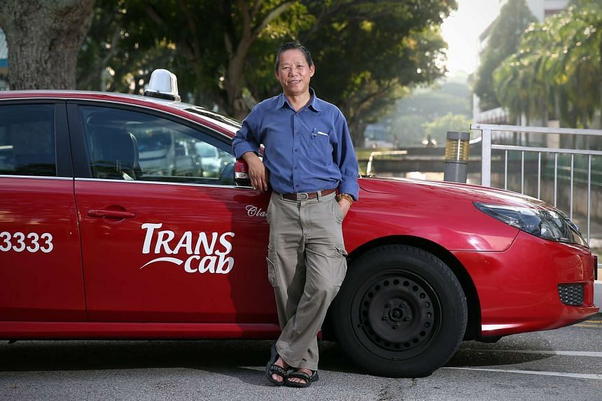 Transcab driver Oh Kim Beng, who went the extra mile to locate a passenger and return his bag.