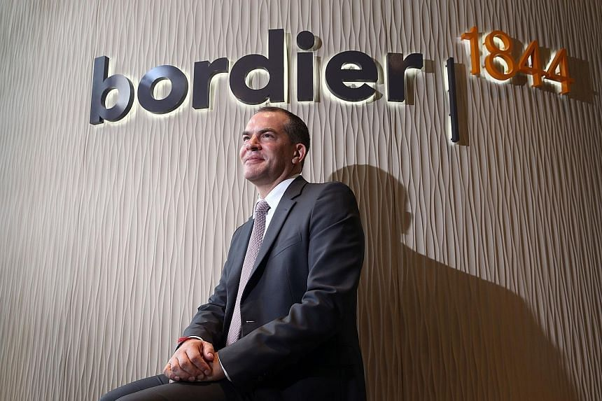 Mr Evrard Bordier chose to make most of the walls in the Bordier & Cie office out of glass to reflect his view that private banking will become more transparent.