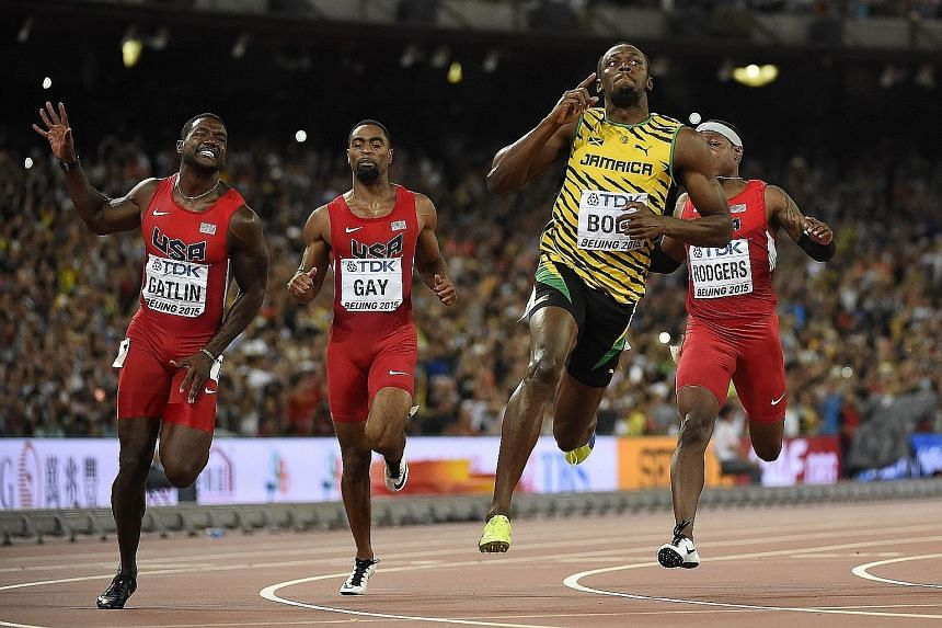 Usain Bolt has the perfect answer to those who wondered if he could blitz the 100m track, given his recent woes with injury. But, once again, when it matters, he holds his nerve to fend off rivals, including (from left) Justin Gatlin, Tyson Gay and M