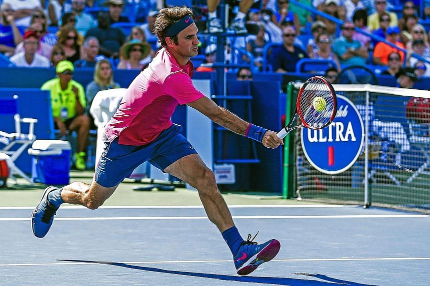 Roger Federer said he started deploying his new tactic - a sudden rush forward nearly to the service line to return his opponent's second serves - more as a joke in training but it has worked so well that he is now using it in matches.