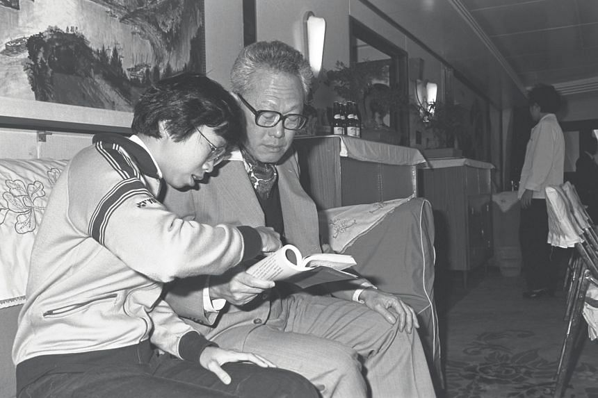Prime Minister Lee Kuan Yew and daughter Wei Ling on board a boat during a visit to China in 1980.