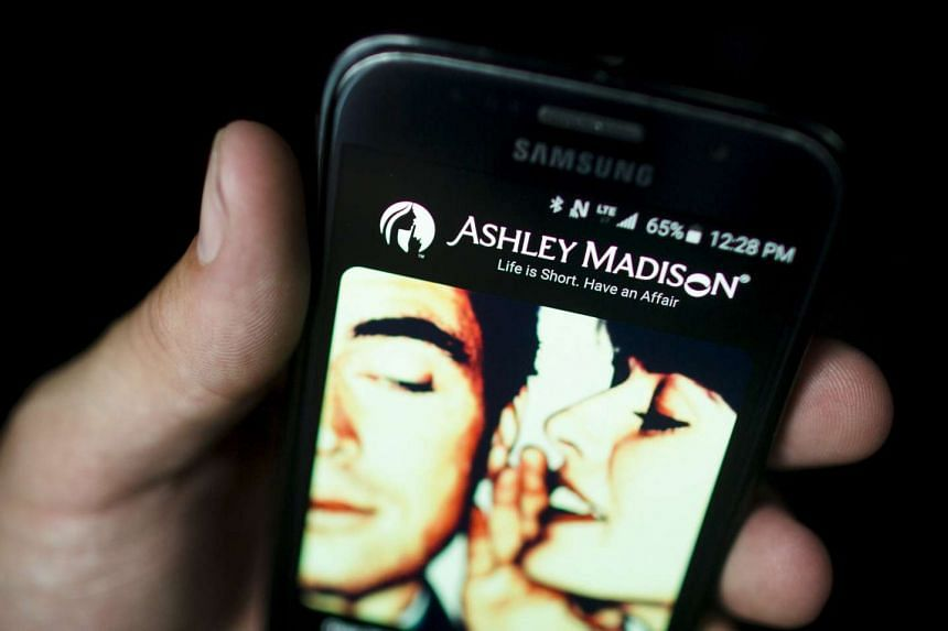 The Ashley Madison app displayed on a smartphone.