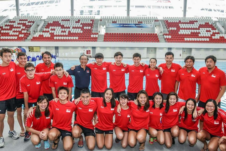 Singapore's youth swimming team plus coaches and officials that will compete in the 5th Fina World Junior Swimming Championships held in Singapore from Aug 25-30.