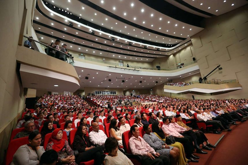 PM Lee Hsien Loong delivered the National Day Rally at ITE College Central on Aug 23, 2015.
