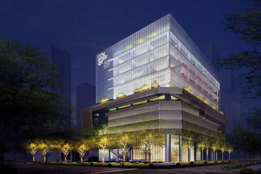An artist's impression of the new Singapore Chinese Cultural Centre.