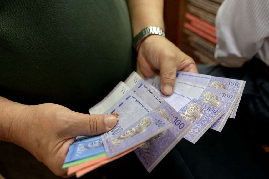 The Malaysian ringgit fell further on Tuesday.