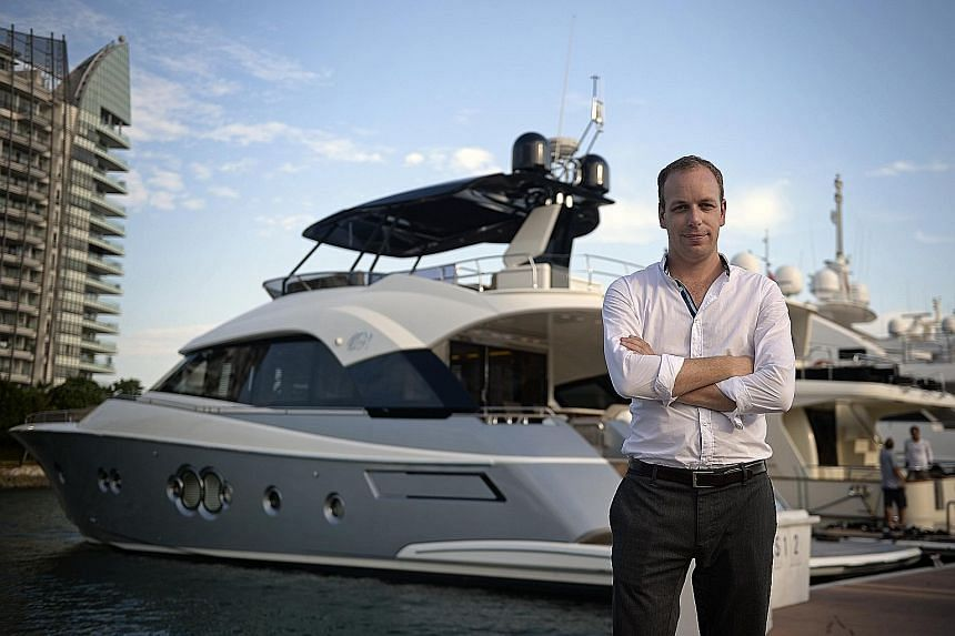 """There's a lot more going on here than people thought,"" says Mr Nick Stratton, of Simpson Marine, seen with a Monte Carlo Yachts 70."