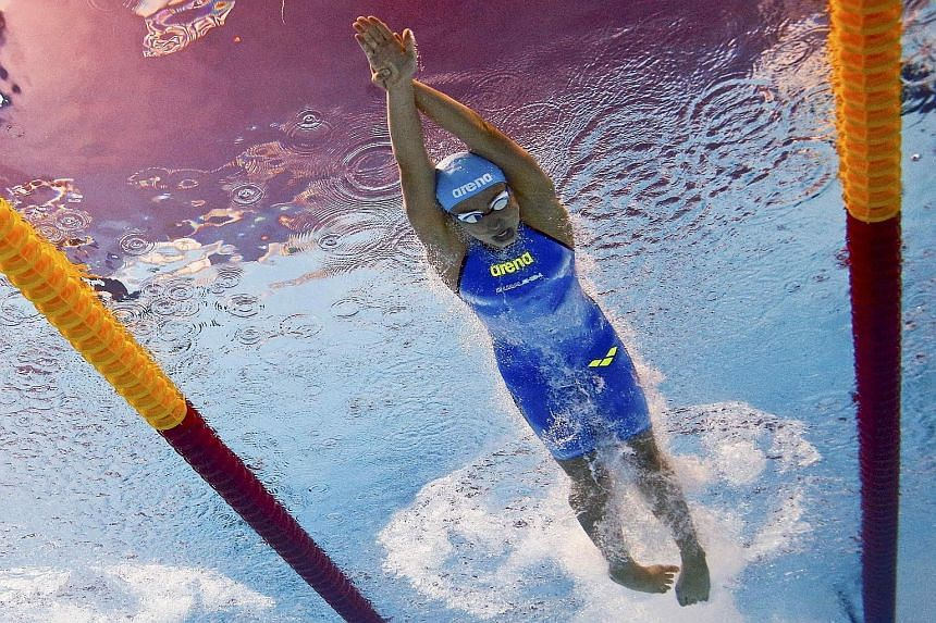Arina Openysheva, 16, is part of a strong Russian contingent for the World Junior Swimming Championships.