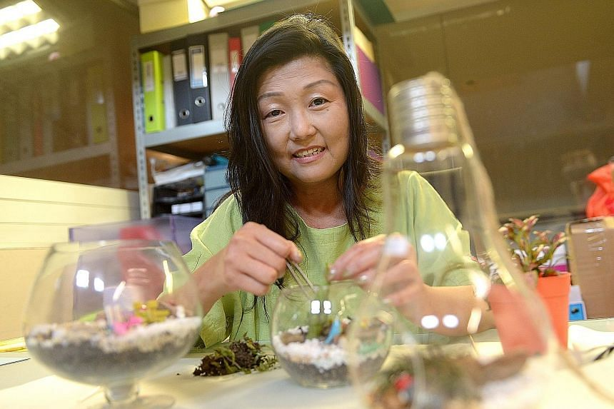 Florist Yap Bee Geok, 50, learnt 20 years ago that she had the disease. Medication has helped but she still has symptoms.