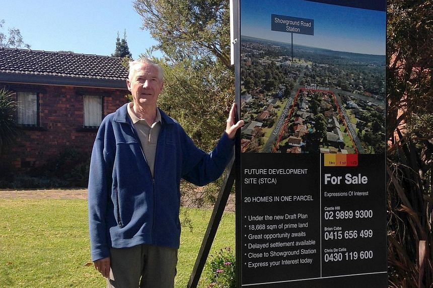 Sydney resident Ron Buxton and his neighbours have clubbed together to offer their homes in the suburb of Castle Hill as a development block for apartments. The trend has surged in the past year with home owners increasingly taking the initiative the