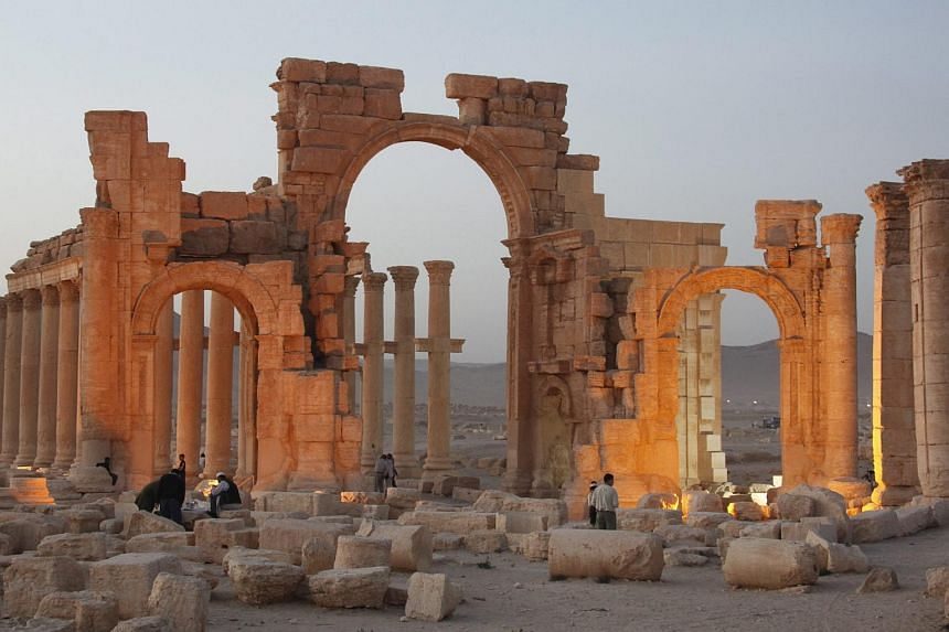A general view of the ancient city of Palmyra in central Syria.