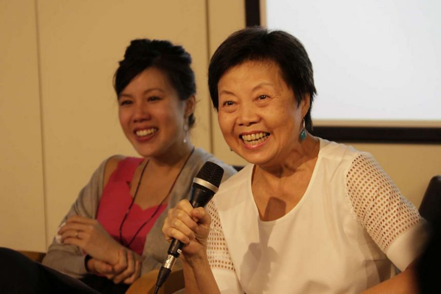 Mother and daughter writing duo, Teh Su Ching (left) and Leong Liew Geok.
