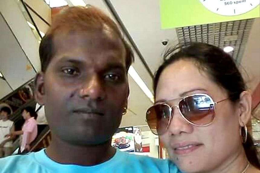Ms Allen Remedios is pictured here with a man believed to be her former boyfriend. Ms Remedios was attacked on Sunday while returning to her employer's flat in Tampines.