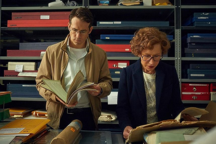 Helen Mirren plays the Jewish woman bent on recovering her aunt's painting seized by the Nazis, with help from Ryan Reynolds, the eager lawyer.