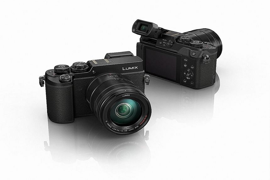 The Panasonic Lumix DMC-GX8's top-button layout, with two command dials, makes the changing of settings quick and easy.