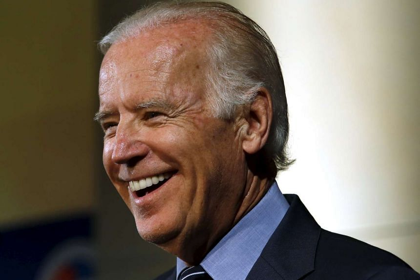 Biden (above) would undeniably enter the race as the underdog.