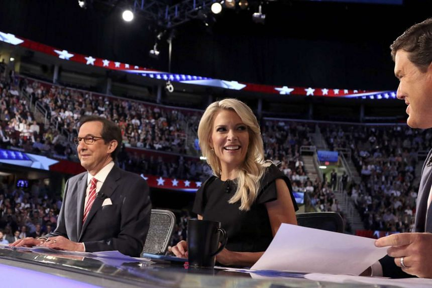 Republican debate moderator Megyn Kelly (centre) was once again the target of Trump's Twitter vitriol.