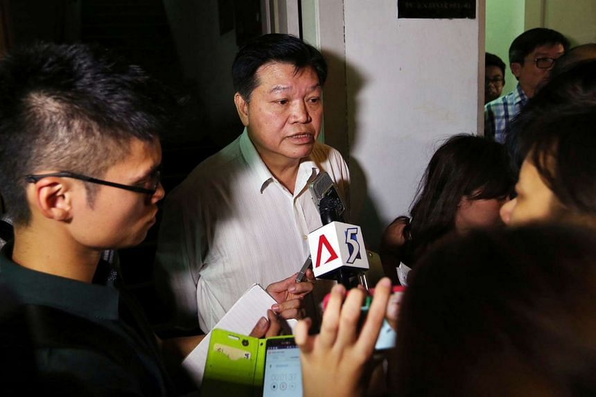 """National Solidarity Party president Sebastian Teo speaking to the media after an opposition meeting on Aug 6, 2015. Mr Teo on Aug 26 denounced the """"mud-slinging tactics"""" that had been used against him and his party."""