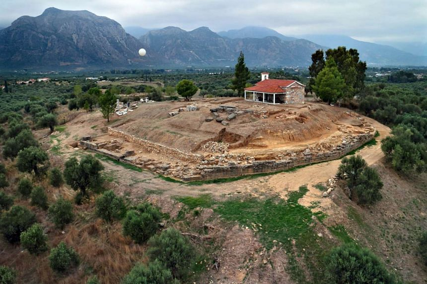 The site of the palace, near Sparta in southern Greece.