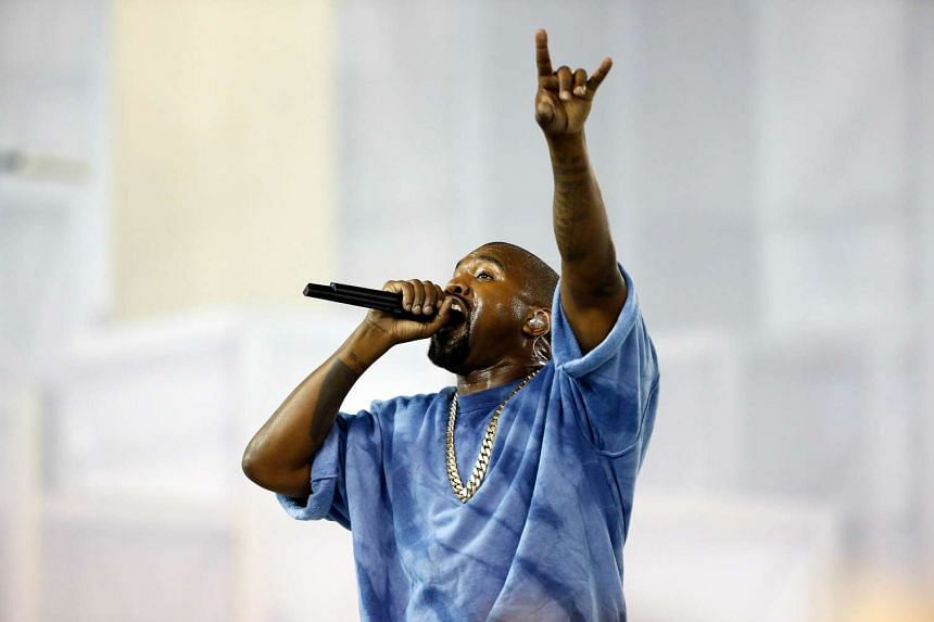 Kanye West performs during the closing ceremony of the Toronto 2015 Pan Am Games on July 26 in Toronto, Canada.