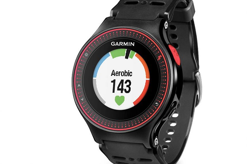 The Garmin Forerunner 225 has a wrist-based heart rate monitor. Its optical sensor measures your heart rate by shining light at your skin and measuring the amount of light returned.