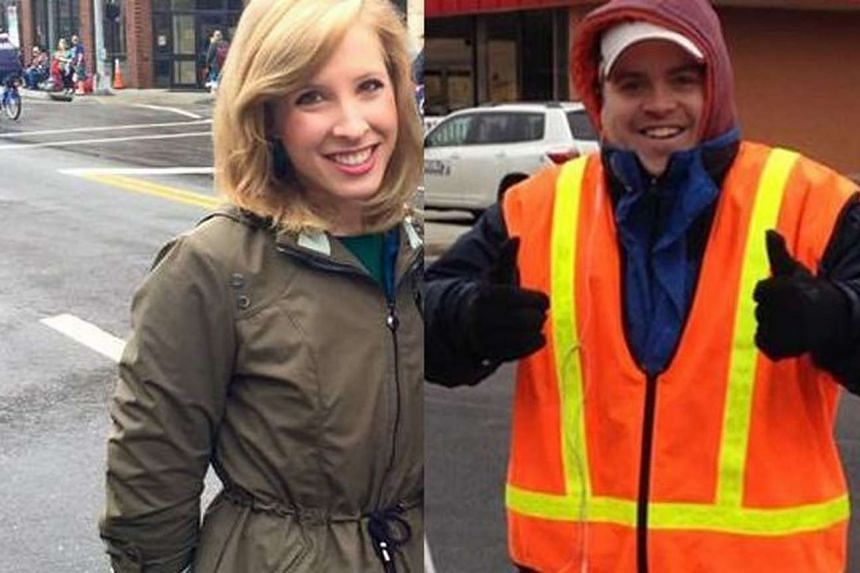 An undated photo courtesy of WDBJ7-TV shows employees Alison Parker and Adam Ward, who were killed in an attack in Moneta, Virginia on Aug 26, 2015.