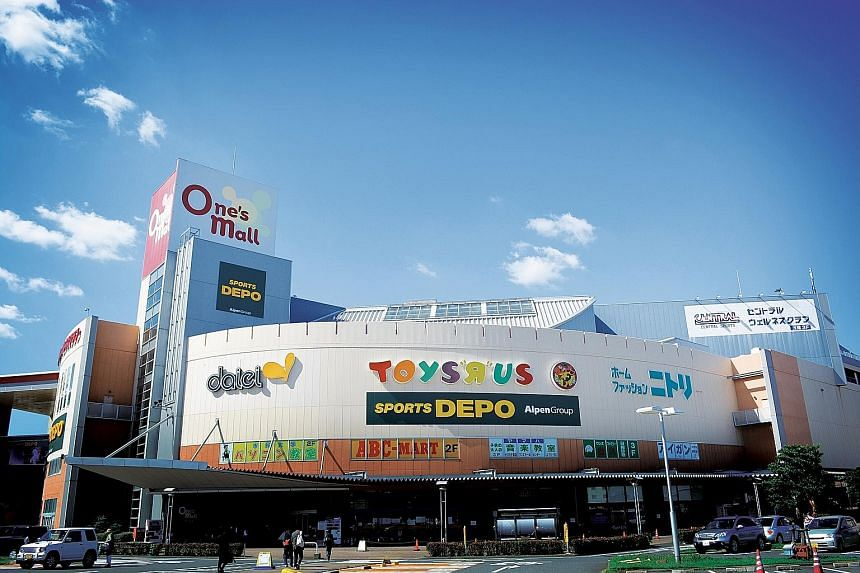 Additional income contributions to CRT came from recent acquisitions such as One's Mall in Chiba, Japan.