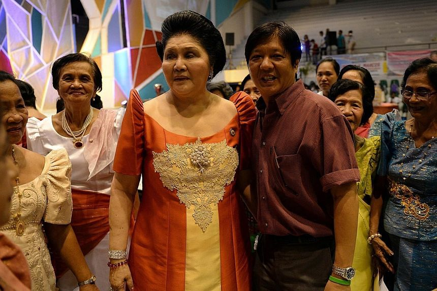 Mr Ferdinand Marcos Jr with his mother Imelda Marcos, in a photo taken last month.