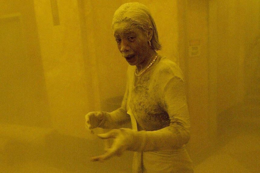 The Sept 11, 2001, photo of Ms Marcy Borders covered in dust as she takes refuge after escaping from the collapsing Twin Towers. Ms Borders felt her cancer could be a result of the attacks.