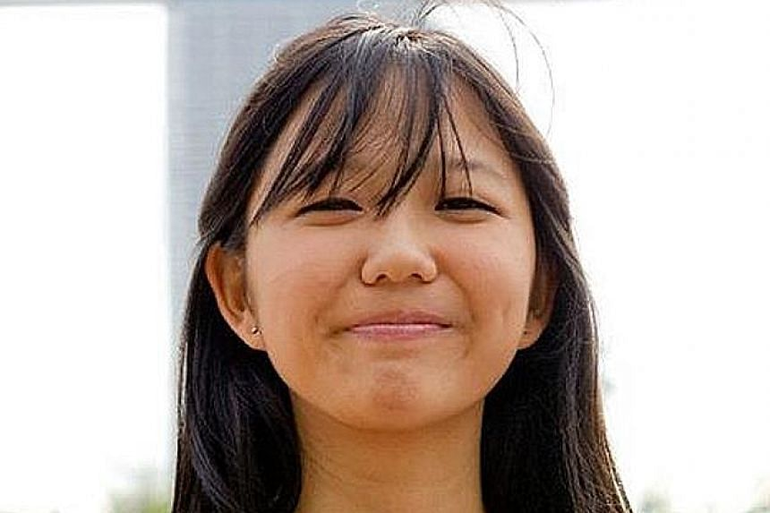 Ms Chan See Ting used to have a full head of hair (above), but in 2013 was diagnosed with alopecia areata, an autoimmune disease that attacks the body's hair follicles, The disease left her bald (left).