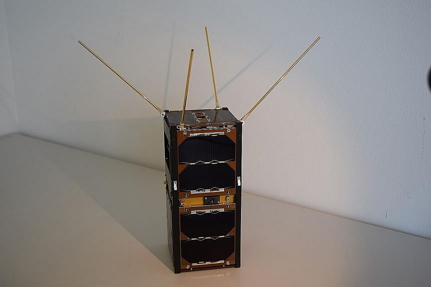 The GomX-2 satellite with the NUS Centre for Quantum Technologies' device in it. The $12,000 device was feared to have been destroyed when the Antares rocket carrying the satellite exploded last October.