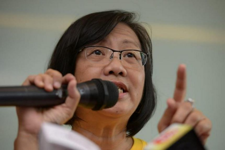 Bersih 2.0, led by Maria Chin Abdullah (pictured), has threatened to sue the Malaysian Communication and Multimedia Commission over its ban on websites that are spreadking information on the Bersih 4.0 rally.