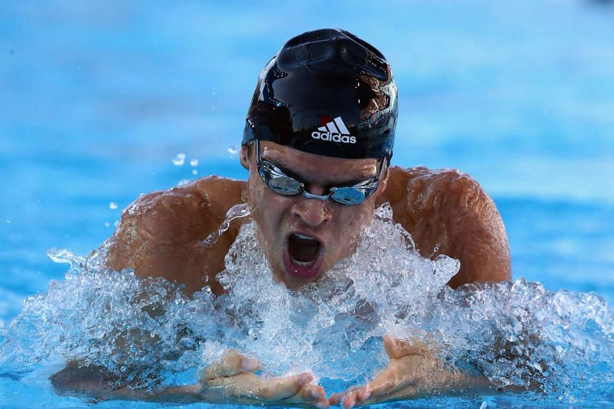 Michael Andrew completed the men's 50m backstroke in a meet record of 25.14 seconds.