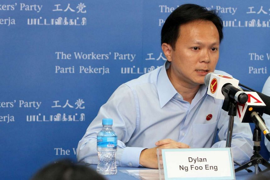 Mr Dylan Ng Foo Eng, one of the four candidates unveiled at the first Workers' Party press conference for General Election 2015.