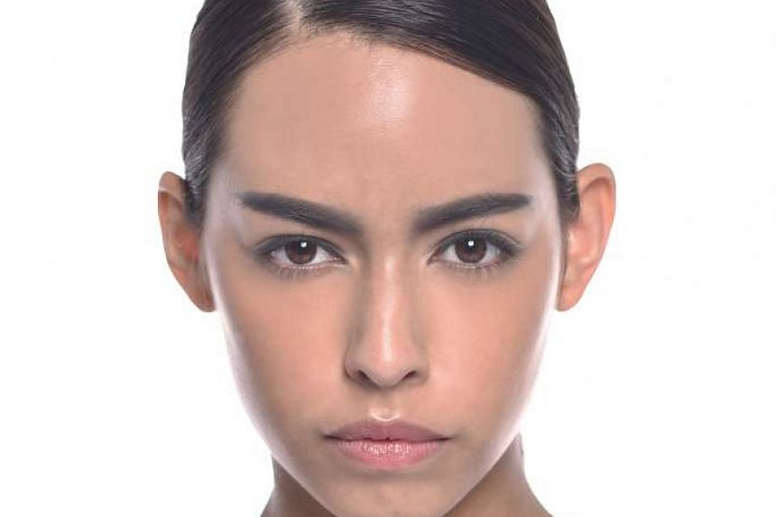 Thick brows done wrongly can make a woman look masculine.