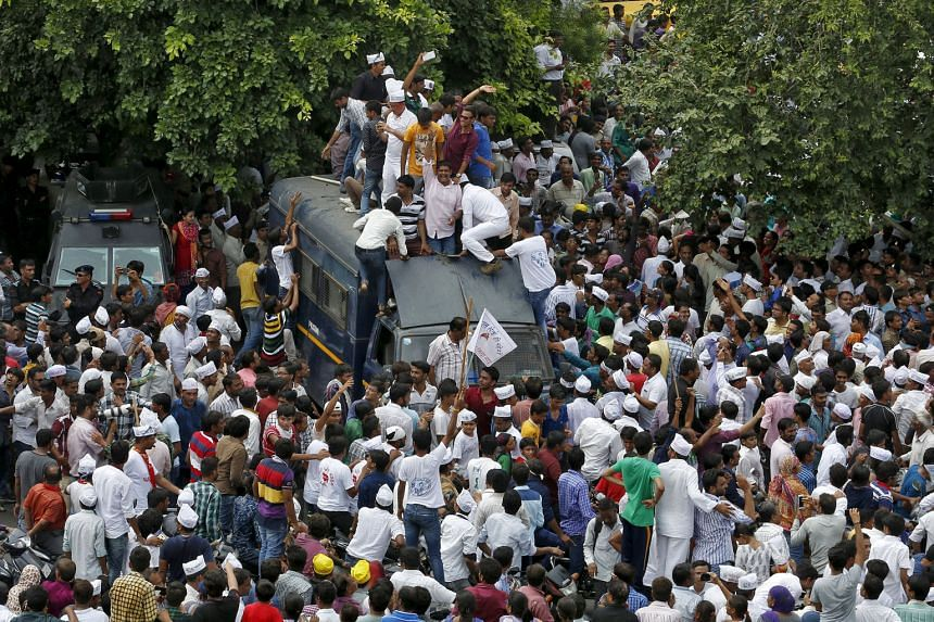 At least half a million Patidars rallied in Ahmedabad on Tuesday to demand preferential treatment. The Patidars, one of the state's most affluent castes, make up about 12 per cent of the population there. They say they are struggling to compete with