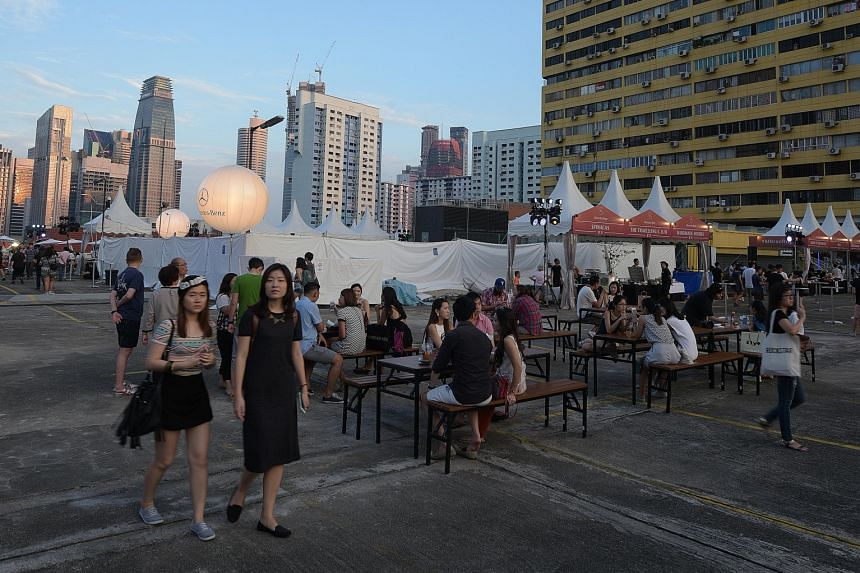 A film screening on the rooftop of myVillage in Serangoon Garden. The Mercedes- Benz CLA Shooting Brake launch party at the rooftop carpark of People's Park Complex.