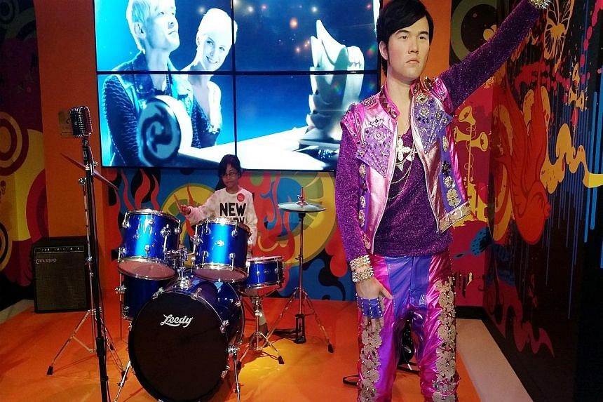 A wax figure of singer Jay Chou at Madame Tussauds Singapore, which is offering free admission to Singaporeans and permanent residents aged 50 years and older till Monday.