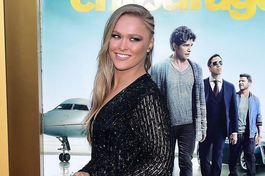 Ronda Rousey, the UFC women's bantamweight champion and occasional actress, at the premiere of the film Entourage in June. It was her third movie.
