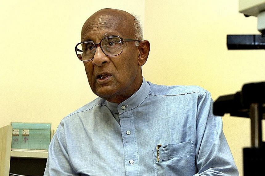 Prof Shanmugaratnam, who is the father of Deputy Prime Minister Tharman Shanmugaratnam, still conducts fortnightly seminars for trainee doctors, and consults on difficult cases referred to him by colleagues from public and private hospitals.