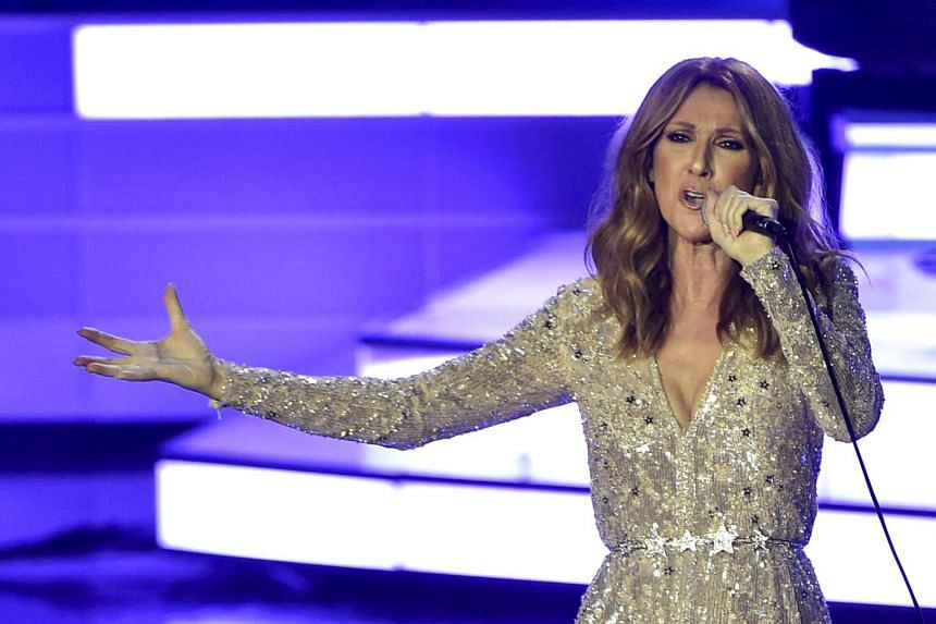 Celine Dion performing at Caesars Palace in Las Vegas on Aug 27, 2015.