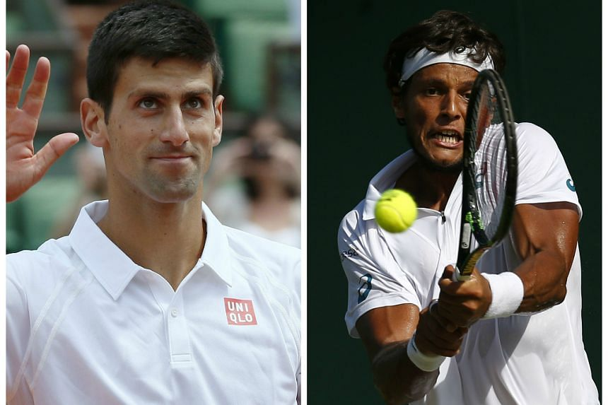 Djokovic (left) will meet world No. 89 Joao Souza (right) for the first time.