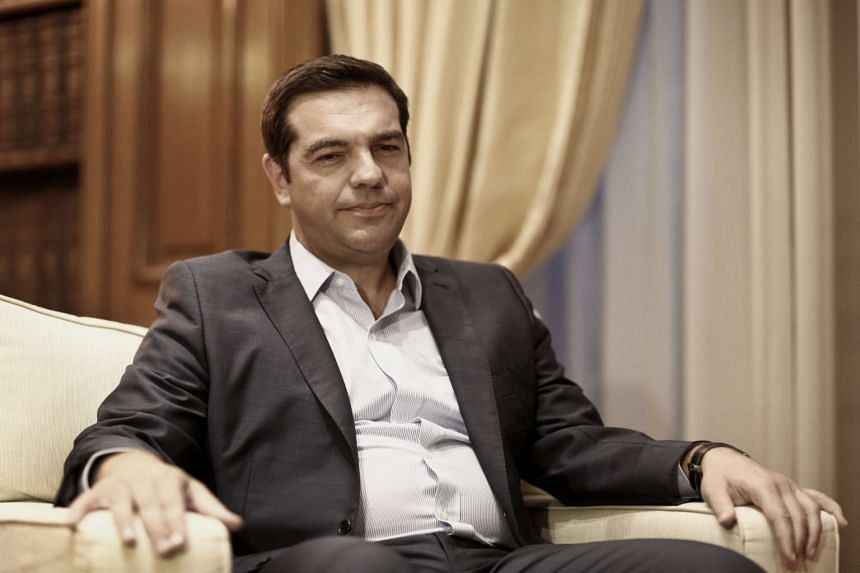 Alexis Tsipras, Greece's former prime minister at the Maximos mansion in Athens, Greece, on Aug 27, 2015.