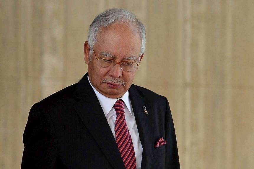 Malaysia's PM Najib Razak at the 19th Annual Leaders Consultation at Nurul Iman Palace in Bandar Seri Begawan, Brunei, on Aug 11, 2015.