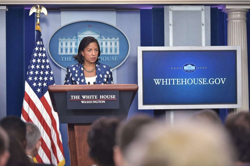 US National Security Advisor Susan Rice speaking during the daily briefing in the Brady Briefing Room of the White House on July 22, 2015, in Washington, DC.